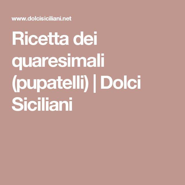 Ricetta dei quaresimali (pupatelli) | Dolci Siciliani