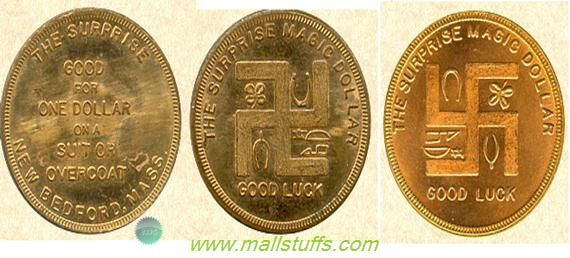 Swastika good luck coins of american clothing stores-Part 1