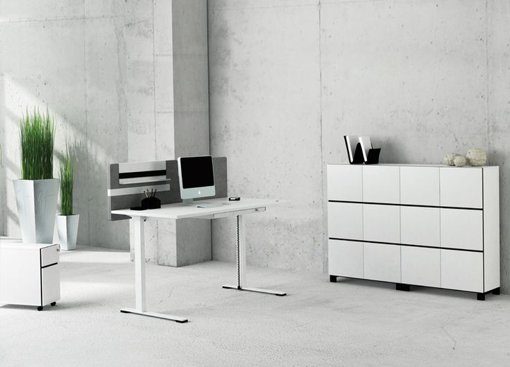 JAZZ sit-stand desks and storage by Strand + Hvass | designed in Denmark, made in Lithuania | Narbutas