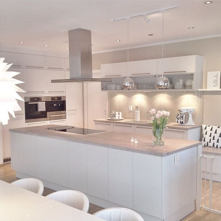 This kitchen is an all white wonderland. Shop this look at: http://na.rehau.com/crystal