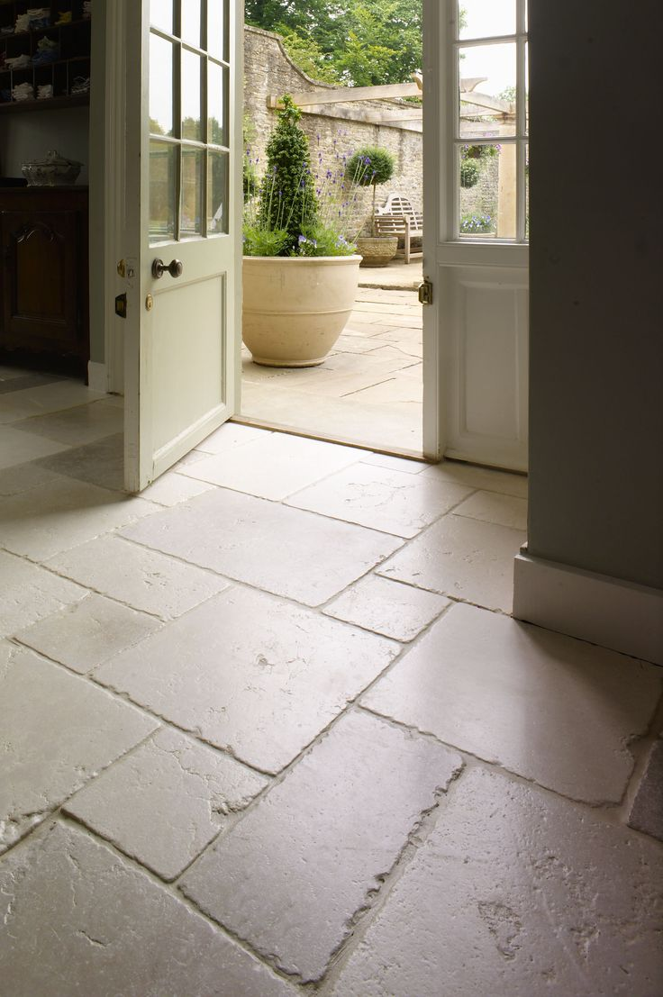 High Quality St Arbois Tumbled Limestone Floor ~ A Stylish And Popular Tumbled Limestone  With Delicate Tones Of Beige, Pale Greys, Creams And The Occasional Blush  Pink.