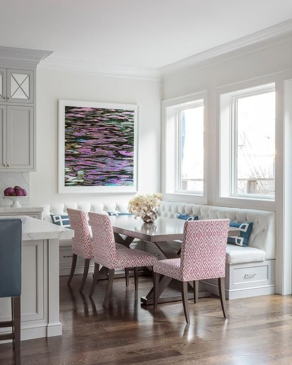 Dining Room Storage Ideas To Keep Your Scheme Clutter Free: A Corner Space With An L-shape Dining Banquette Offers A