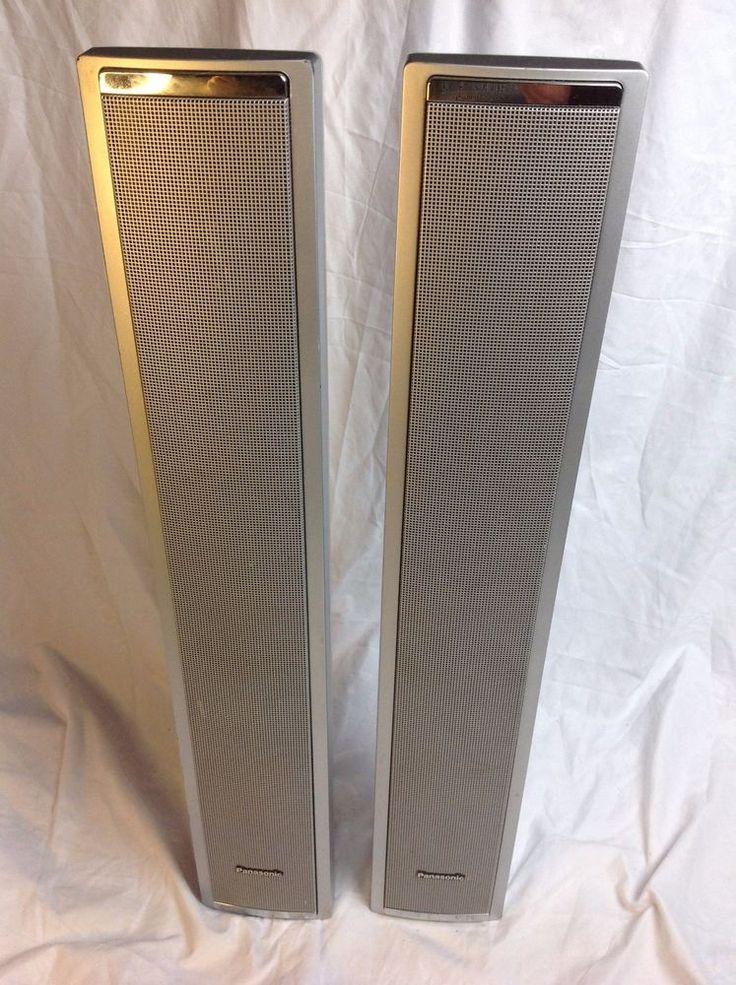 Pair PANASONIC SB-PF920 Home Theater 6-ohm Wall Mount Front Tower Speakers #Panasonic