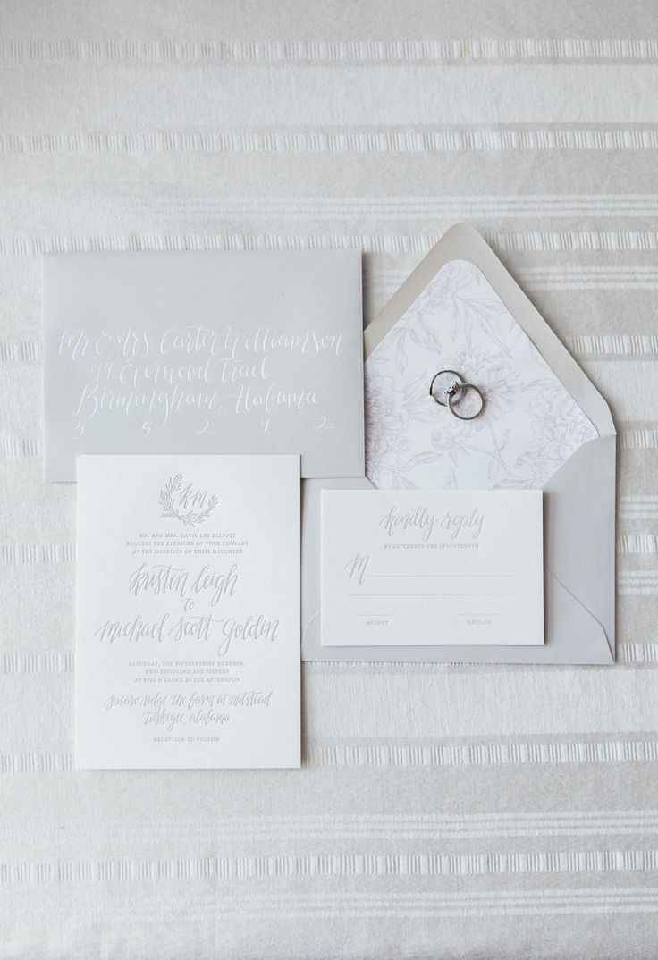 types of printing for wedding invitations%0A Grey Wedding Invitation Suite