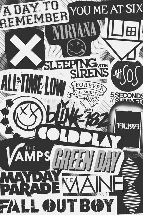 It makes me happy that 5sos is on here with all of them, I kinda want something sorta like this on my bedroom wal