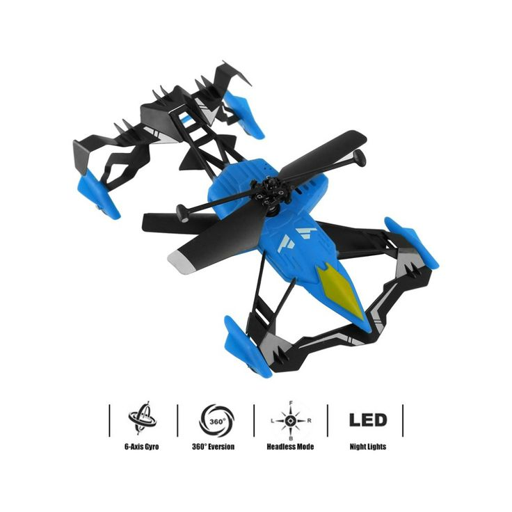 Hot YKS Remote Control 2 in 1 Air Ground Flying Car RC Drone Quadcopter 3D Flip. Click visit to buy #RemoteControl #Car
