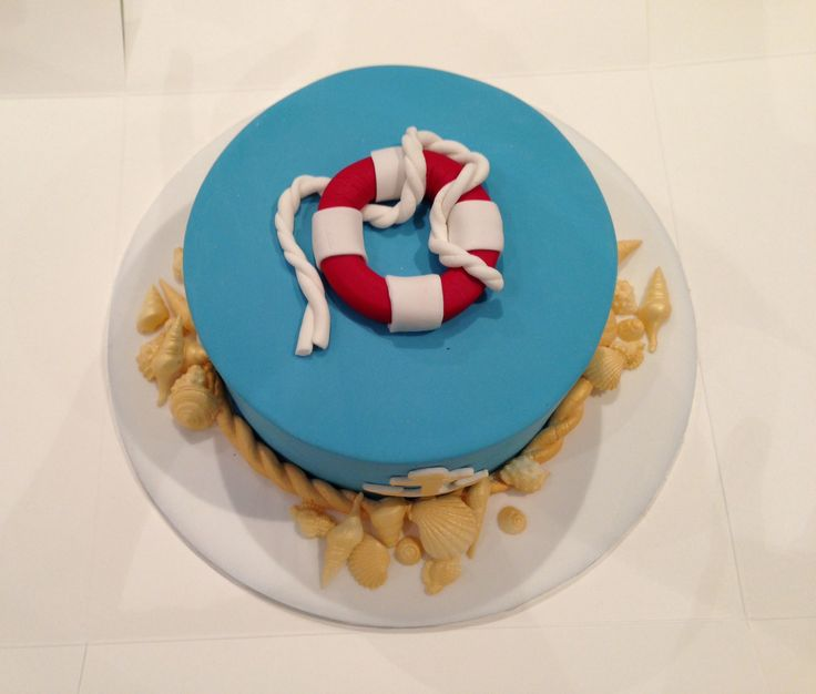 Nautical themed cake for my dad's birthday