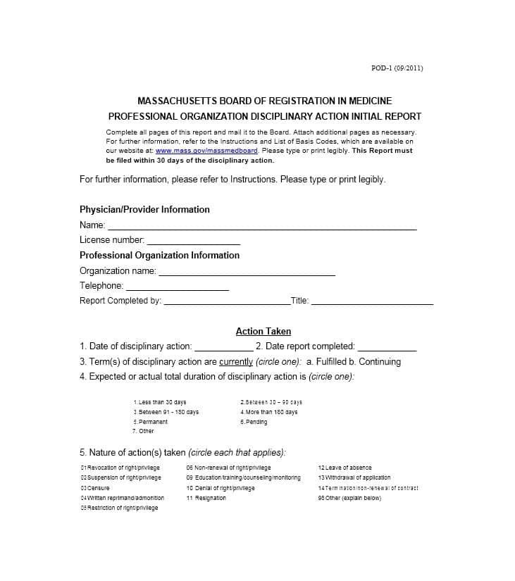40 Employee Disciplinary Action Forms ᐅ Form Templates Coding