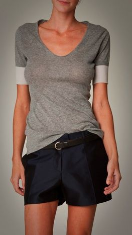 The ultimate t-shirt, it's from M. Patmos (NY) - eco friendly merino wool, zero-waste seamless knitting technology from Japan. Wearable, elegant, conscious. http://www.mpatmos.com/: Casual Outfit, Merino Wool, Work Outfit, Bolivia, Fashion Designers, Shorts Outfits Women, Knitting Technology