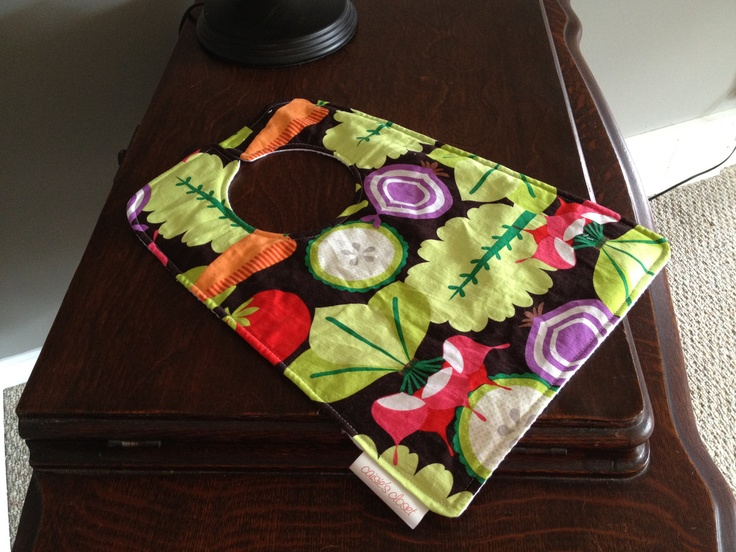 Waffle back bib in Salad Time by caisiescloset on Etsy, $10.00