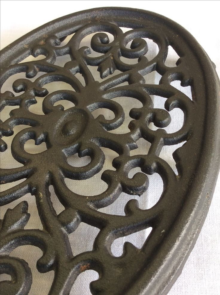 Cast Iron Oval Trivet Made in USA