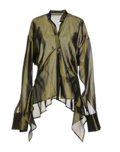 Haider ackermann camicia donna Verde militare 55700 - Prezzo