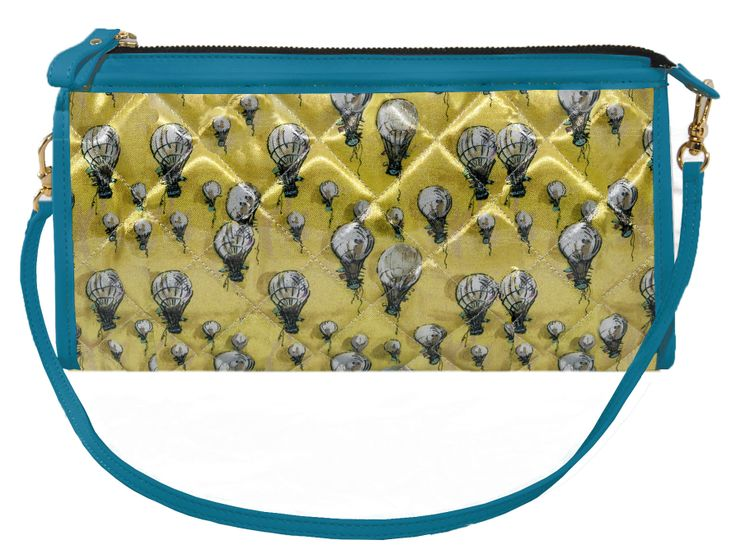 Crystal Clutch Bi-color Canary Yellow- Powder Blue http://federicalunello.com #federicalunello #bags #accessories #handmade #madeinitaly