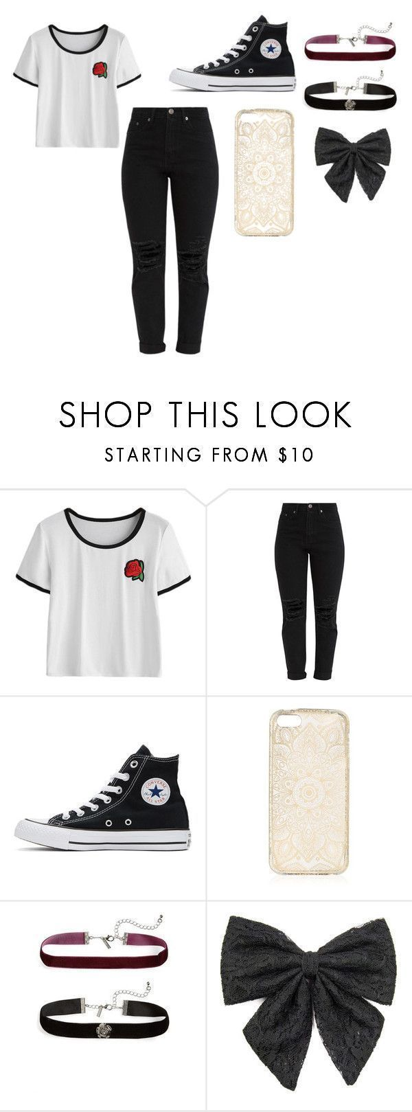 """Back to School Outfits"" by idk-any-more on Polyvore with Converse, Topshop – Outfits Für Teenager"