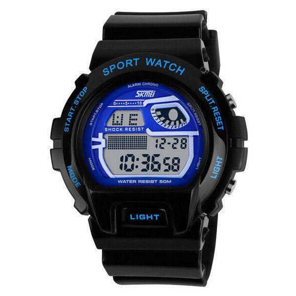 SKMEI 1010 Alarm Waterproof Silicone Band Sport Watch