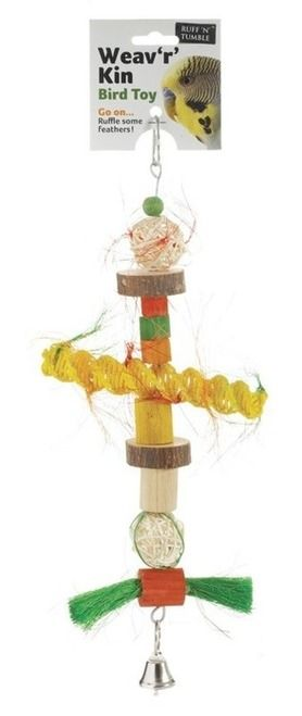 Weav 'r' Kin Parrot Toy  Natural Parrot toy suitable for small parrots and parakeets like budgies.