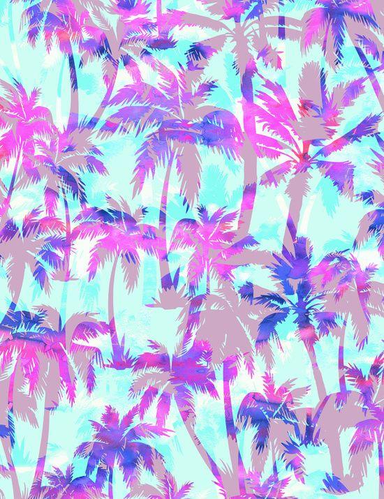 Maui Palm {Pink} Art Print By SchatziBrown  #pattern #tropical #SchatziBrown