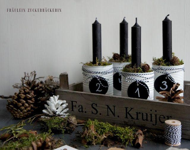 Diy Advent Wreath, Moderner Adventskranz aus Dosen | My Christmas ...