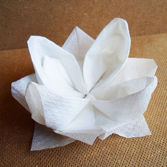 Lotus Napkin Fold Easy : folding paper napkins how to fold napkins napkin origami towel origami