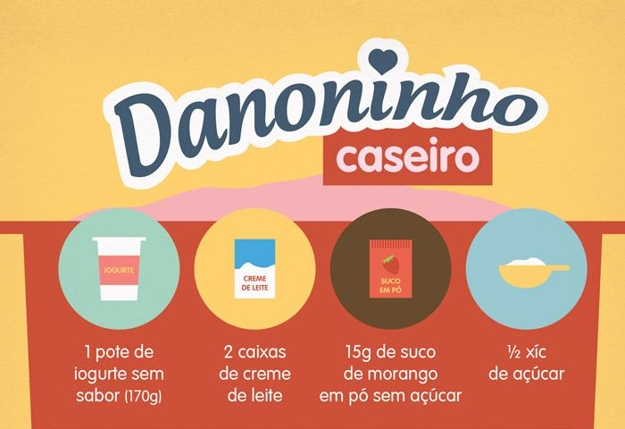 RECEITA-ILUSTRADA 127: Danoninho caseiro. http://mixidao.com.br/receita-ilustrada-127-danoninho-caseiro/