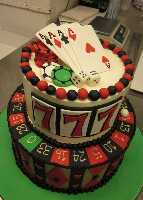 cake - Casino Perfect for Trisha and Daniel anniversary cake!!#Repin By:Pinterest++ for iPad#