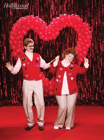 "Melissa McCarthy and Ben Falcone's Valentine's Day Photo Shoot: ""If people wouldn't think we were crazy, I think we'd walk around like this,"" says McCarthy. ""Like, we'd do a different look every day. It'd be like the joy of my life."""