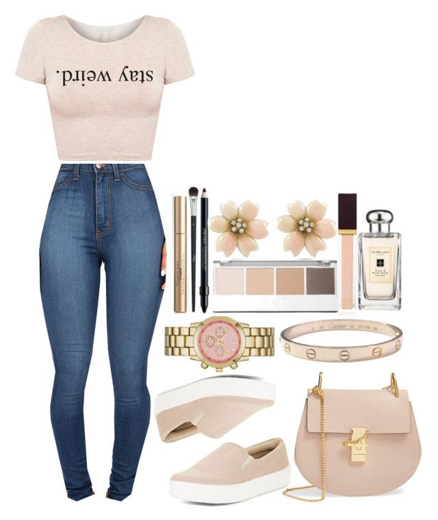 """""""~She's A Lady - Forever The Sickest Kids~"""" by tiffanymejia ❤ liked on Polyvore featuring BCBGMAXAZRIA, Chloé, Merona and Cartier"""