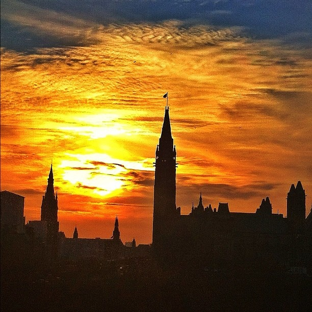 Parliament Hill at sunset, Ottawa