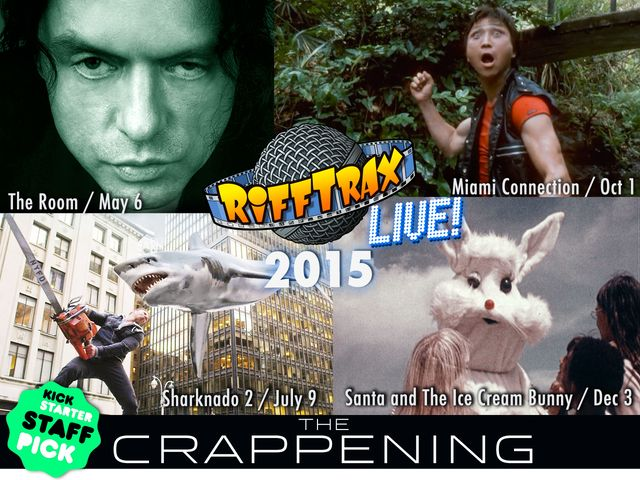 RiffTrax to Perform Four Live Shows in 2015 and Add Commentary to Even More Super Bad Movies in Theaters Nationwide