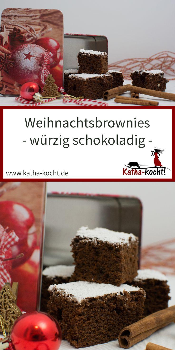 Weihnachtsbrownies für das süße Weihnachtsbacken   – Katha-kocht! – Alle Rezepte