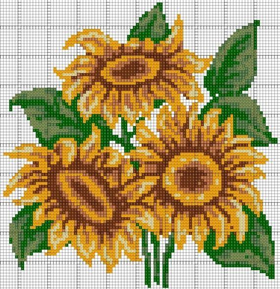 Ayçiçeği Nakış Şemaları