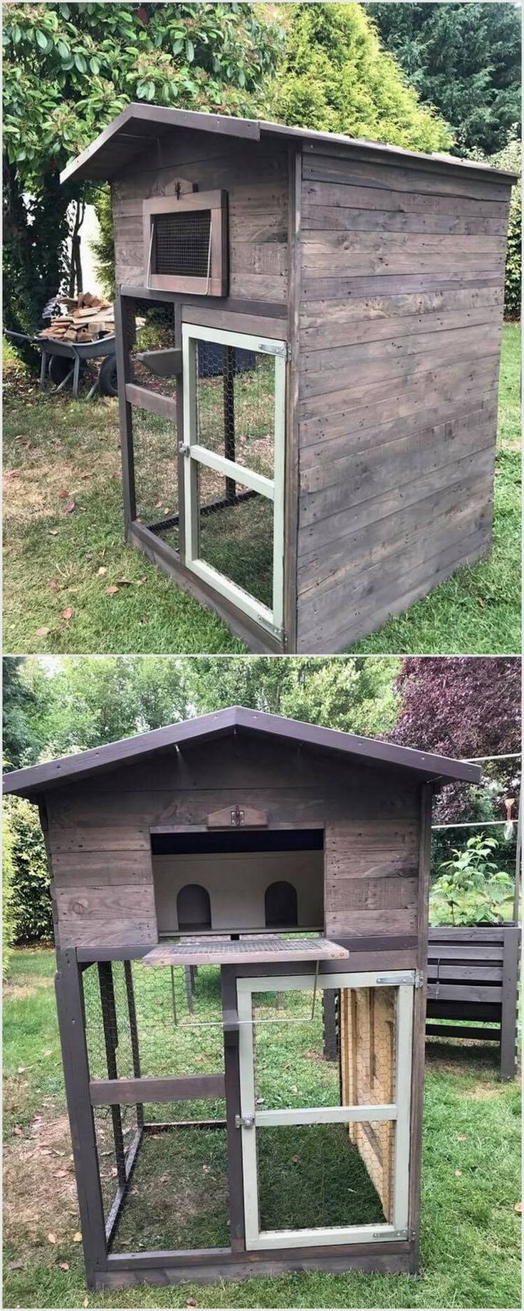 You can even perfectly make the use of designing a simple pigeon house for your house corner. In order to design a simple looking pigeon house, you can even do it by arranging some old wood pallet material and cutting it down in the form style of the house or cage. Keep it simple and less furnished!