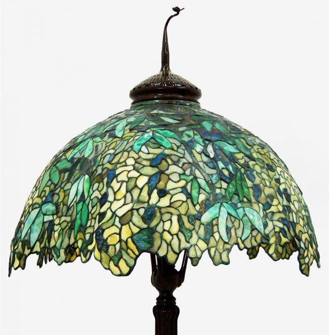 Tiffany laburnum floor lamp lot 1058