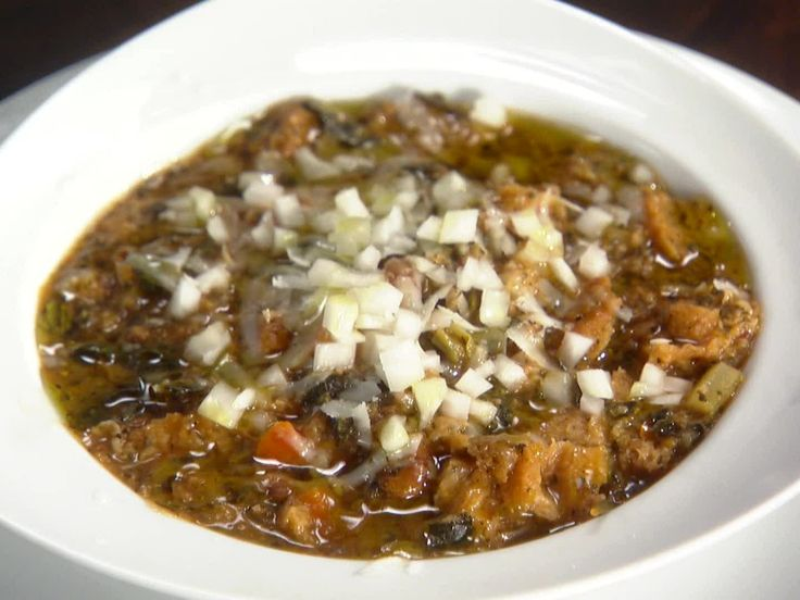 Ribollita (Vegetable, Bean and Stale Bread Soup) from FoodNetwork.com