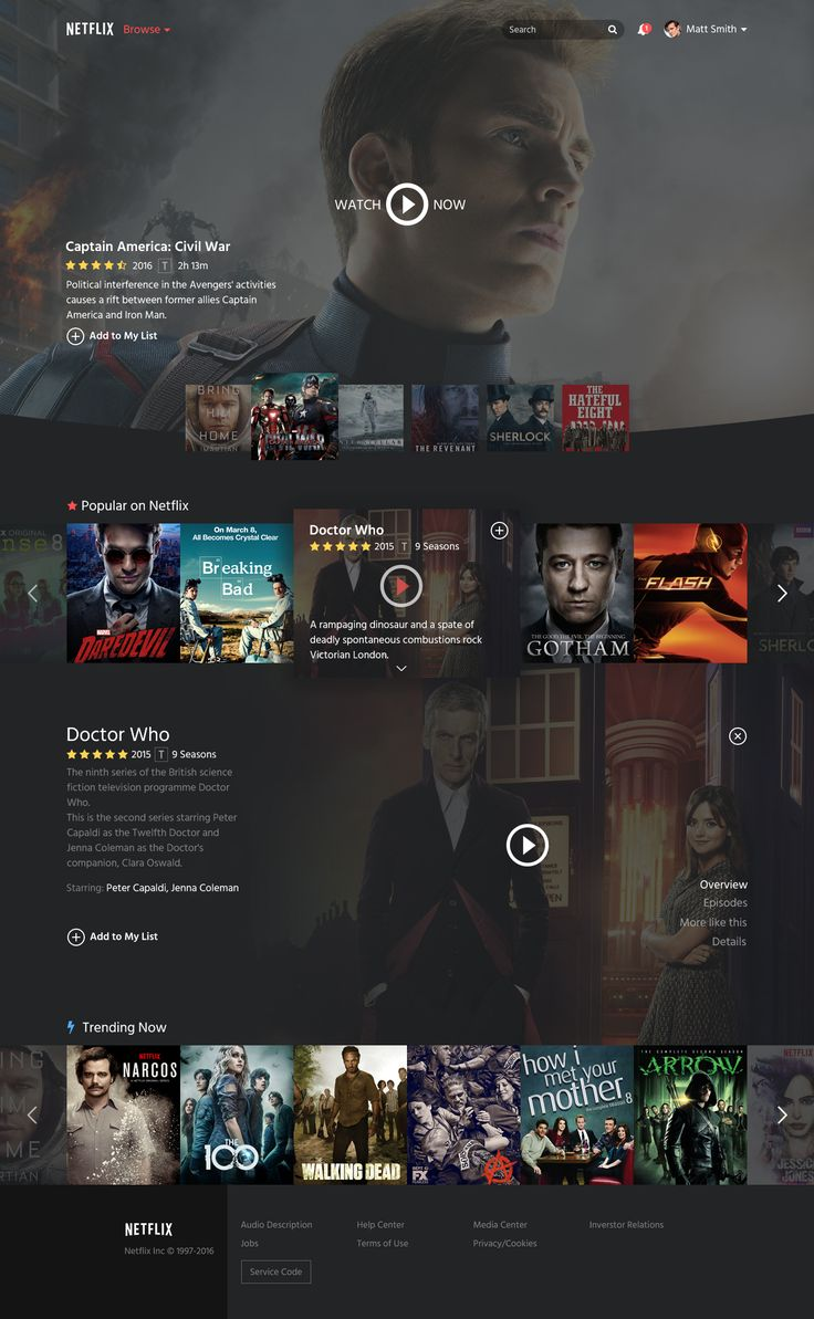 Netflix Restyle – Website by Emiliano Cicero