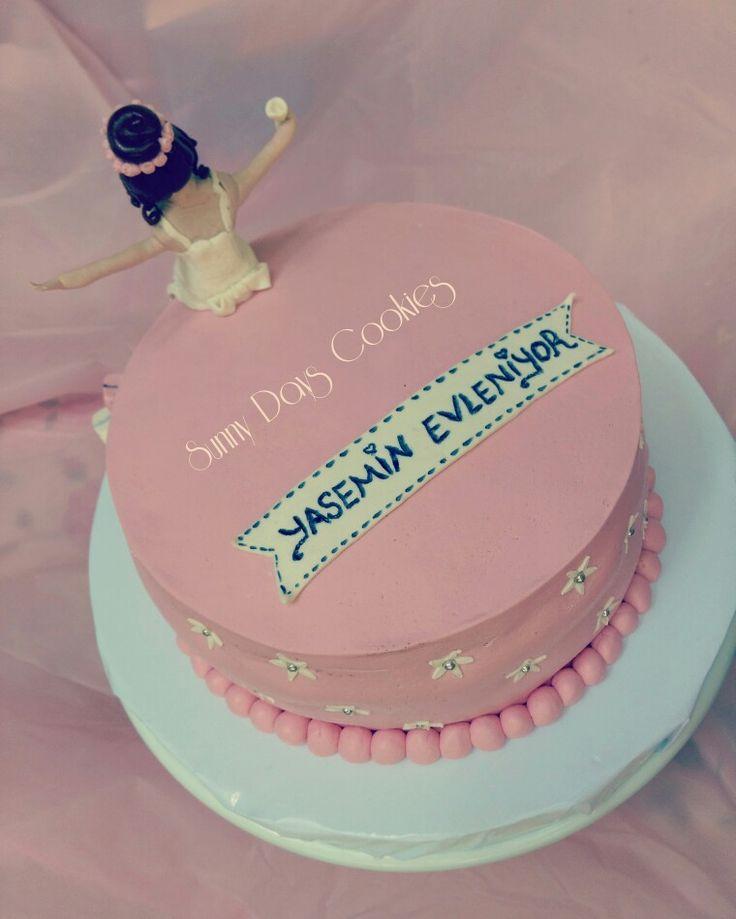 bekarlığa veda pastası, cake decorator, bachelorette, bacheloretteparty, pink cake, gelin pastası