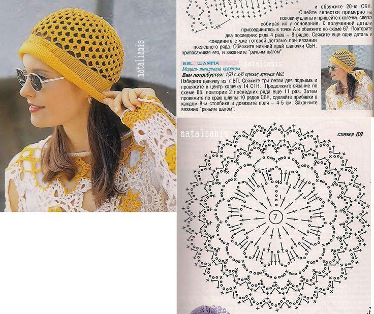 94 best chrochet hats images on Pinterest | Hat crochet, Chrochet ...