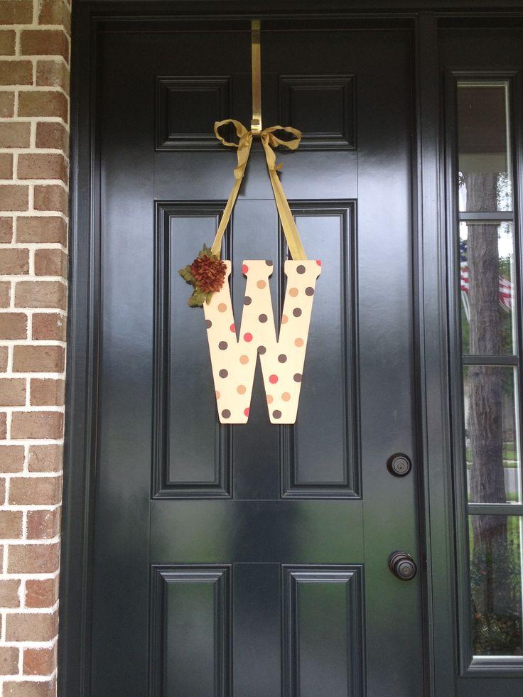 Front door initial | Front Door Initial | Pinterest ...