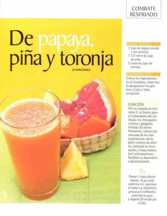 Papaya,  piña y toronja