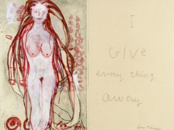 Louise Bourgeois, I Give Everything Away (detail), 2010, Courtesy Louise Bourgeois Trust and Daros Collection, Switzerland