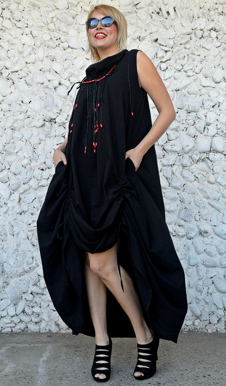Just in: Extravagant Black Dress, Long Flared Maxi Dress, Black Cotton Dress with Red Wood Beads TDK233, RISE https://www.etsy.com/listing/515798475/extravagant-black-dress-long-flared-maxi?utm_campaign=crowdfire&utm_content=crowdfire&utm_medium=social&utm_source=pinterest