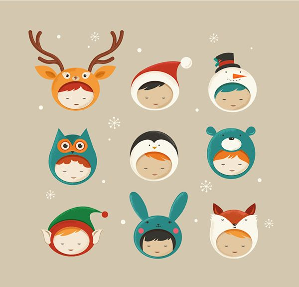 Cute Christmas Characters on Behance