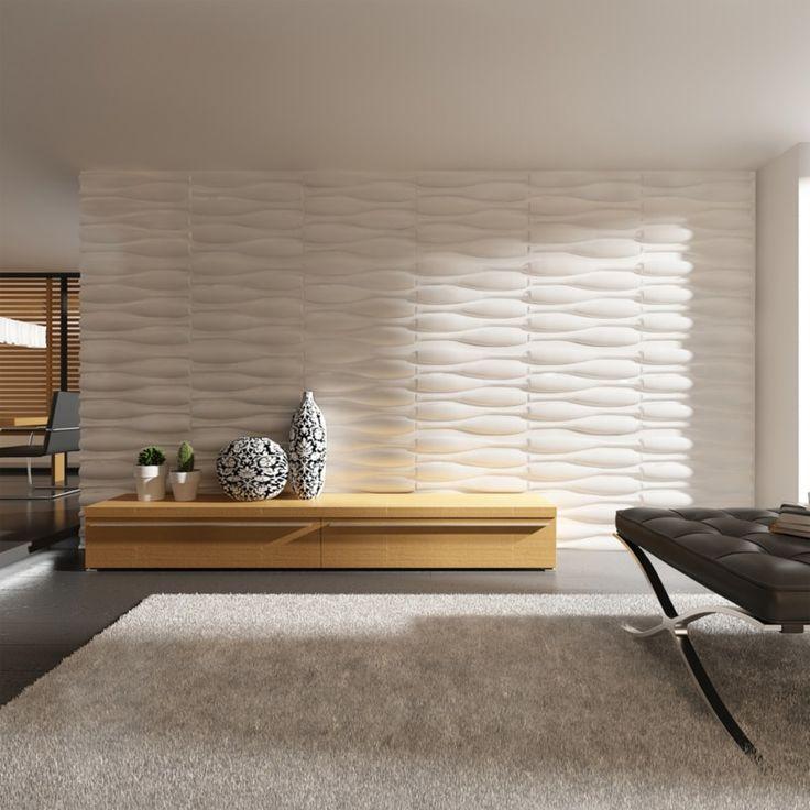 Panneaux muraux 3D ondulé 0,625 m x 0,8 m 12 panneaux 6 m² - 240786 - Revêtement sol et mur