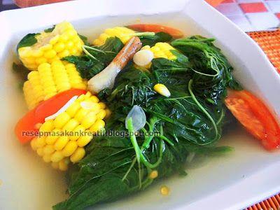 Resep Sayur Bayam Bening   Resep Masakan Indonesia (Indonesian Food Recipe)