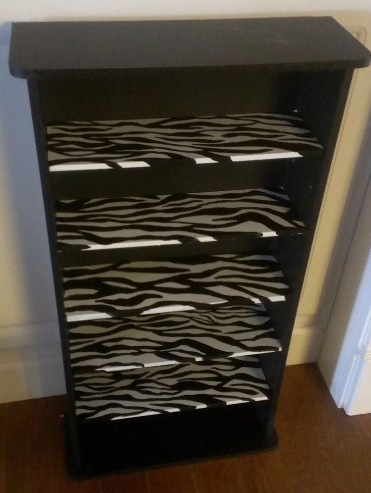 Things I have crafted or refurbished: animal print furniture I painted