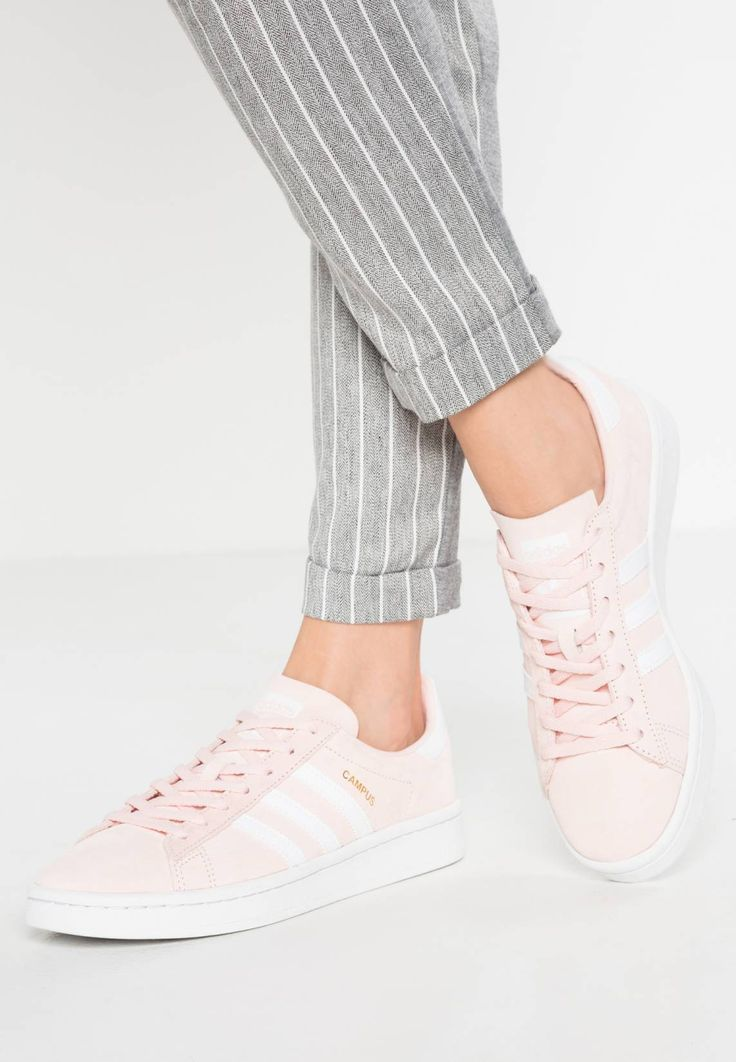adidas Originals. CAMPUS - Trainers - icey pink/white/crystal white. Care instructions:treat with a suitable protector before wear. Sole:synthetics. Padding type:Cold padding. Shoe tip:round. Heel type:flat. Lining:imitation leather/ textile. shoe fastener:laces. up...