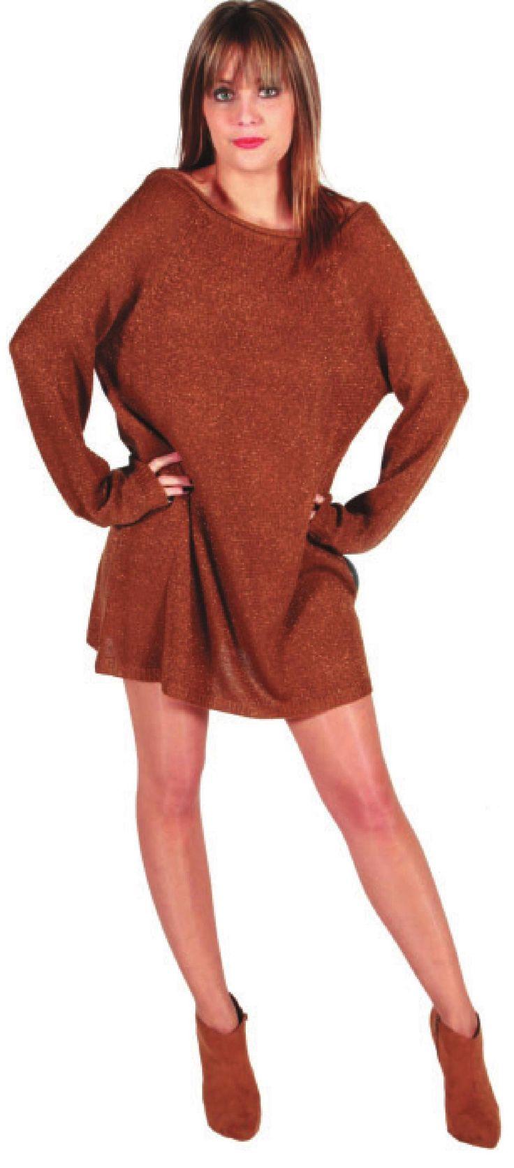 Вязаное платье свободного силуэта