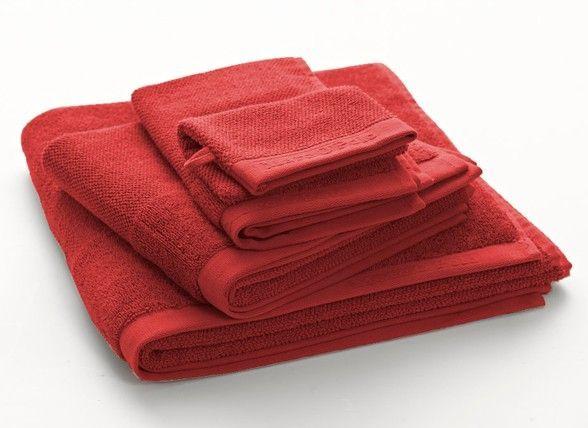 Marc O'Polo Handdoeken Timeless uni red