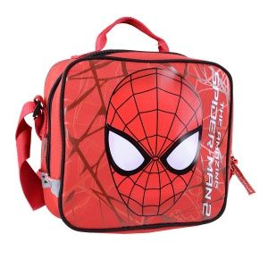 Impertex Fabric Lunch Kit with Spiderman Embroidery Printing