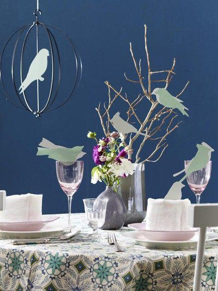 Vase und Tischdeko mit hübschen Vorlagen gestalten
